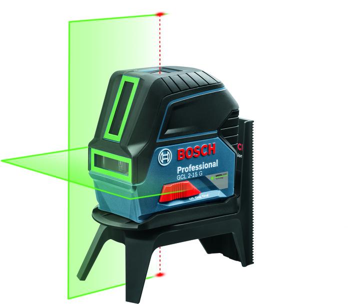 Bosch GCL 2-15 G + RM 1 + držák + case Křížový laser + mount + univerzální držák (nový) + kufr