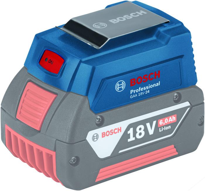 Bosch GAA 18V-24 Nabíječka USB 1x 1,2A + 1x 2,4A