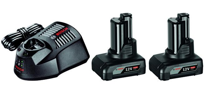 Bosch 2x GBA 12V 6,0Ah + GAL 1230 CV Akumulátor + nabíječka