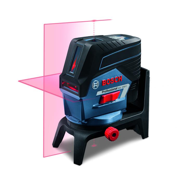 Bosch GCL 2-50 C + RM2 Křížový laser + otočný držák + L-Boxx vložka