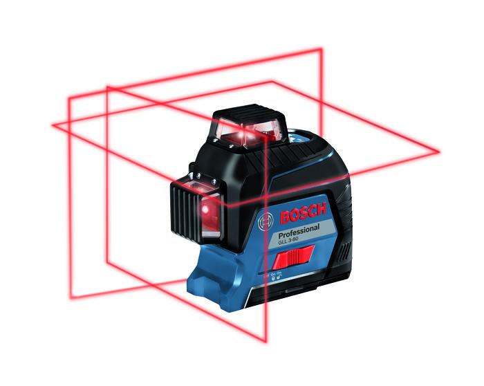 Bosch Křížový laser + stativ GLL 3-80 + BT 150