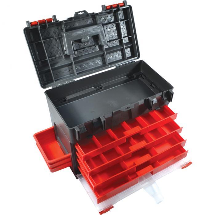 KENNEDY Plastový box na nářadí 4-zásuvkový 450 x 250 x 325 mm