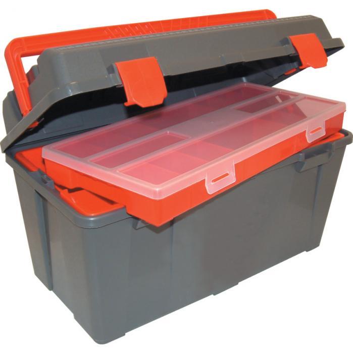 KENNEDY Plastový kufřík na nářadí s organizérem 480 x 240 x 260 mm