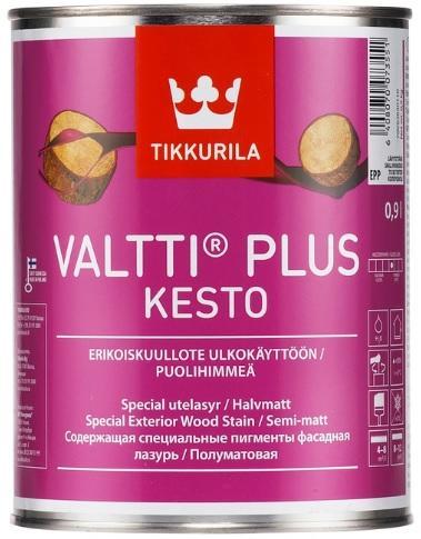 Tikkurila Valtti plus Kesto tenkovrstvý lazurovací nátěr na dřevo s vysokou životností v mnoha odstínech 0,9L