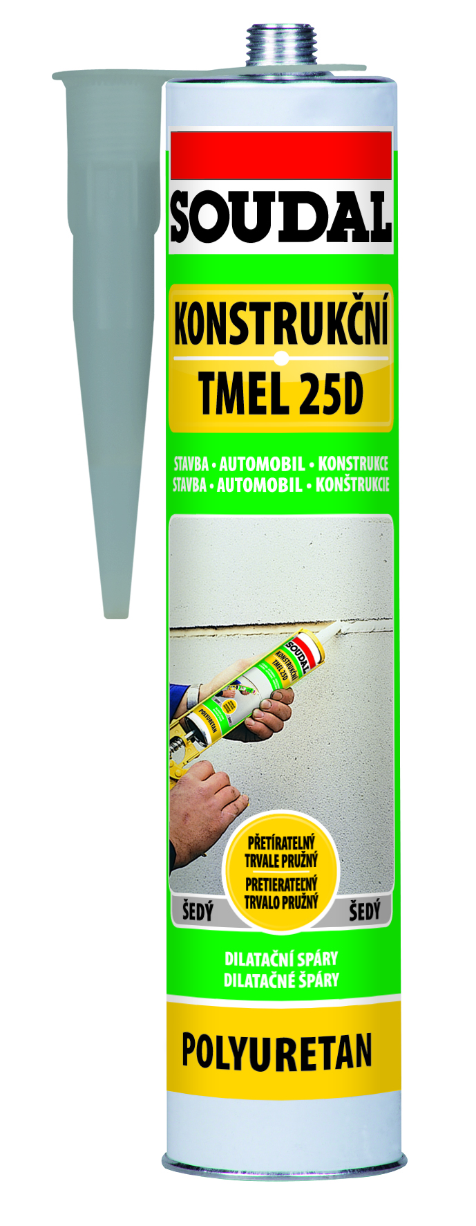 Soudal Konstrukční tmel 25D 310ml elastický polyuretanový