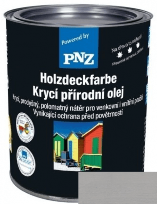 PNZ Krycí přírodní olej kieselgrau / křemenná šedá 10 l