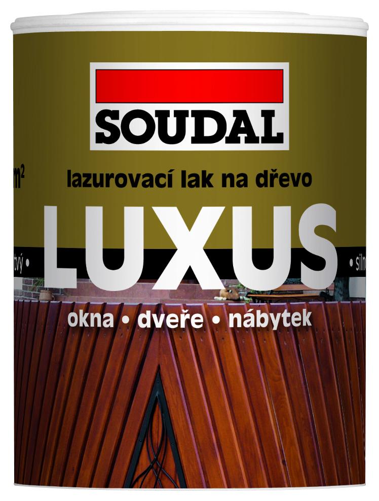 Soudal Luxus Lazura 0,75L silnovrstvý lazurovací lak vodouředitelný pro ochranu dřeva + ŠTĚTEC NAVÍC