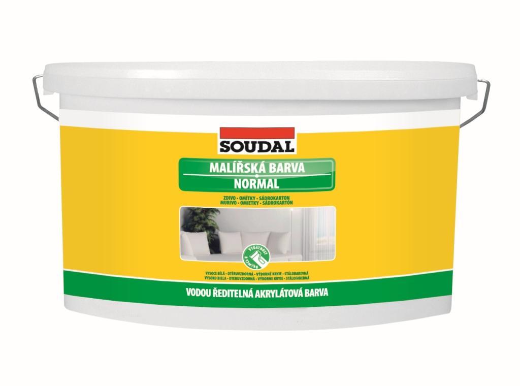 Soudal Malířská barva NORMAL - bílá vnitřní vysoce kvalitní barva na stěny a stropy