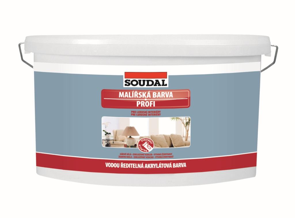 Soudal Malířská barva PROFI - bílá vnitřní otěruvzdorná vysoce kvalitní barva na stěny a stropy