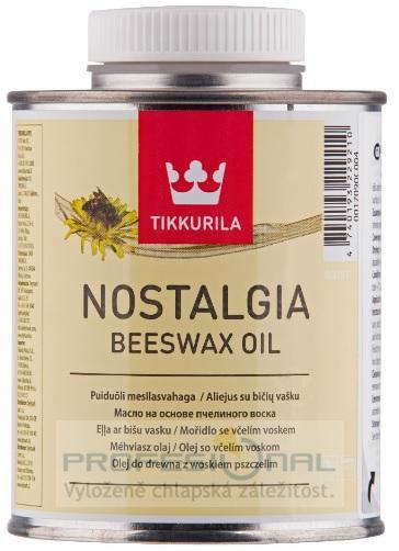 Tikkurila Nostalgia Beeswax Oil ochranný včelí vosk olej na dřevo v interiéru 0,375L