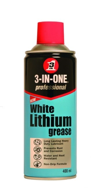 3-IN-ONE Bílá lithiová vazelína ve spreji 400ml