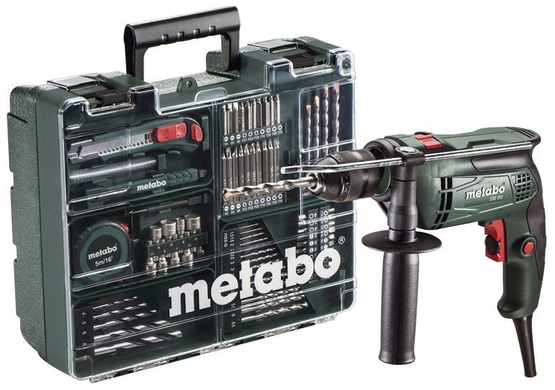Metabo SBE 650 příklepová vrtačka + příslušenství