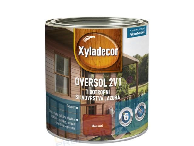OVERSOL 2 v 1 - 0,75LXyladecor Oversol 2v1 je unikátní silnovrstvá lazura na rozpouštědlové bázi pro použití v exteri