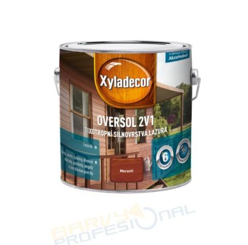 SADOLIN XYLADECOR OVERSOL 2 v 1 - 2,5L Xyladecor Oversol 2v1 je unikátní silnovrstvá lazura na rozpouštědlové bázi pro použití v exteri