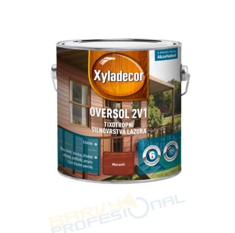 OVERSOL 2 v 1 - 5L Xyladecor Oversol 2v1 je unikátní silnovrstvá lazura na rozpouštědlové bázi pro použití v exteriér