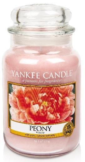 Yankee Candle YANKEE PEONY CLASSIC VELKÝ VONNÁ SVÍČKA Pivoňka