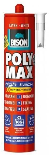 BISON POLY MAX HIGH TACK 425 g univerzální montážní lepidlo/tmel s vysokou počáteční přilnavostí