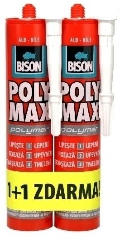 BISON POLY MAX Polymer 465g 1 + 1 Bílé montážní lepidlo na bázi MS Polymeru