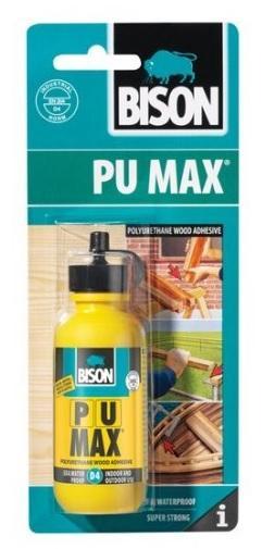 Bison PU Max D4 75g blistr - Vysokopevnostní polyuretanové lepidlo na dřevo D4