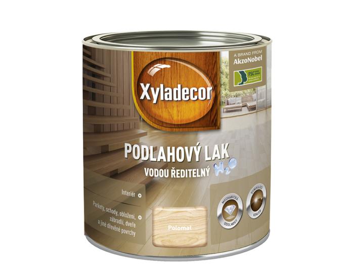 XYLADECOR PODLAHOVY LAK vodní 0,75L -polomat, je doporučen pro použití v interiéru na nejrůznější dřevěné povrchy,