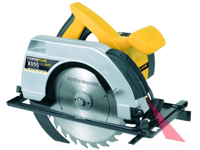 POWERPLUS X POWX055 Okružní pila s laserem 1.800 W