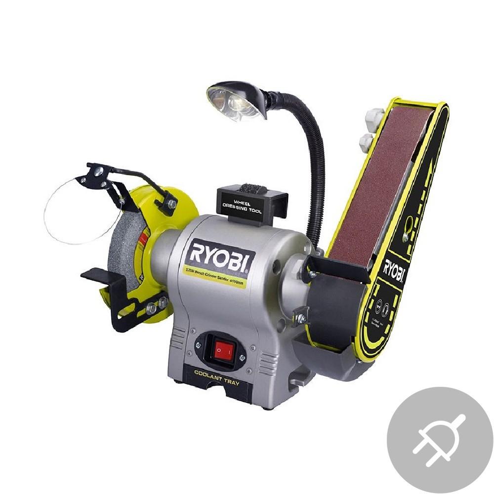 Ryobi RBGL250 Elektrická bruska s pásem a kotoučem, 250W