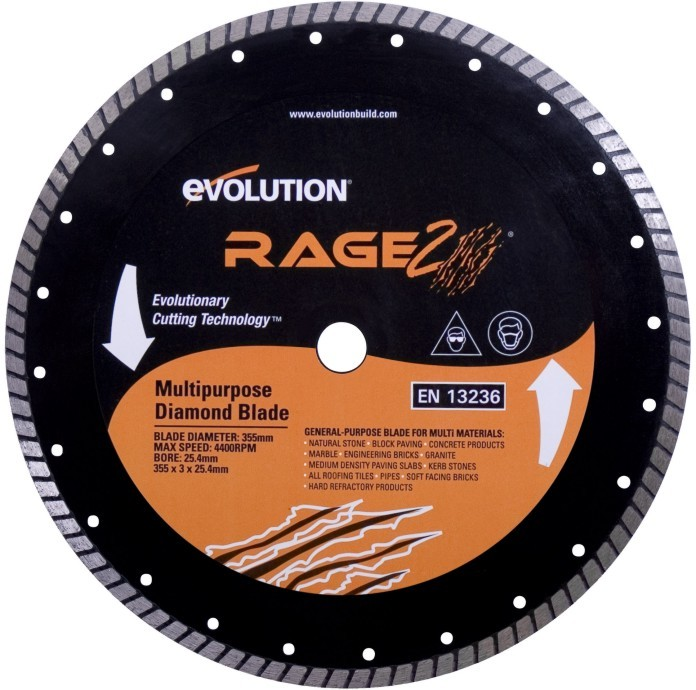 EVOLUTION kotouč 255mm RAGE3 diamantový