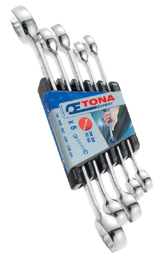 TONA EXPERT E112501 5dílná sada klíčů na převlečné matice