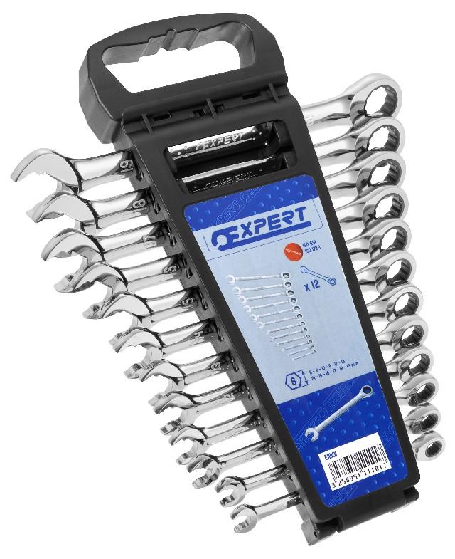 TONA EXPERT E111101 12 dílná sada ráčnových klíčů