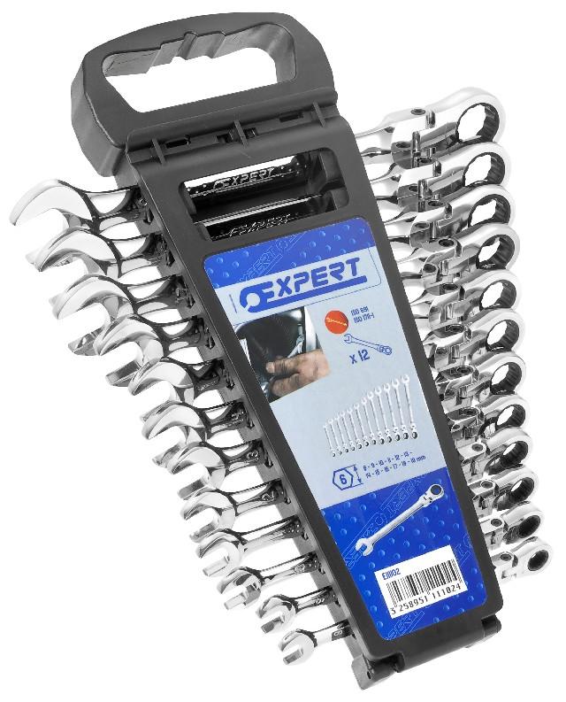 TONA EXPERT E111102 12 dílná sada ráčnových kloubových klíčů
