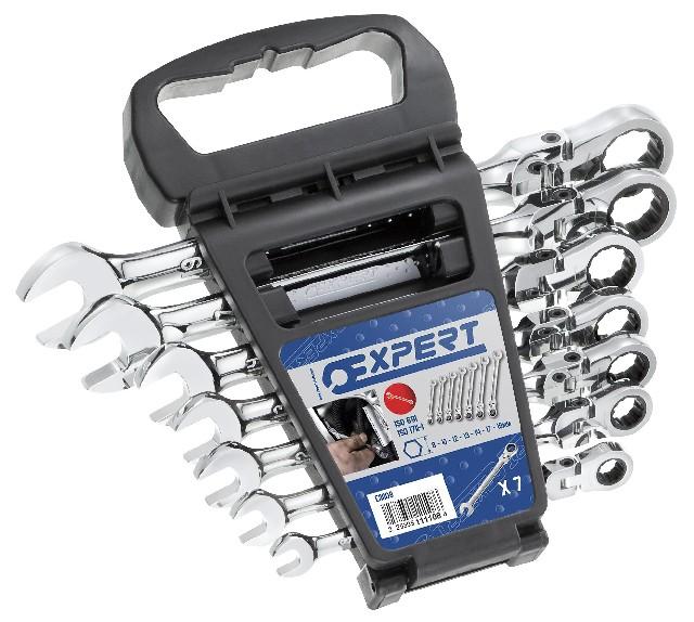 TONA EXPERT E111108 7 dílná sada ráčnových kloubových klíčů