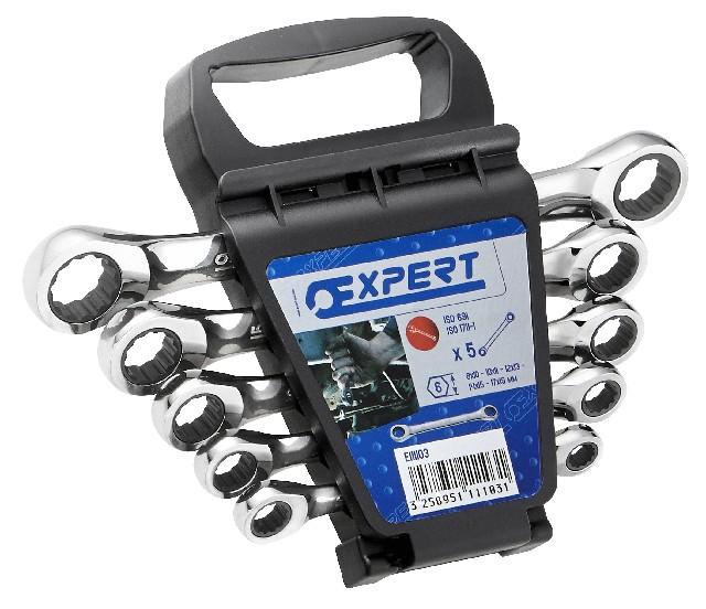 TONA EXPERT E111103 5 dílná sada ráčnových klíčů