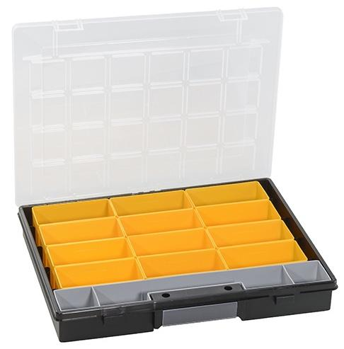 ALLIT Plastový kufřík s vyjímatelnými krabičkami EuroPlus Flex 37/13 457201
