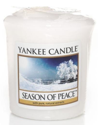 Vonná Svíčka YANKEE CANDLE Season of Peace VOTIVNÍ Období míru