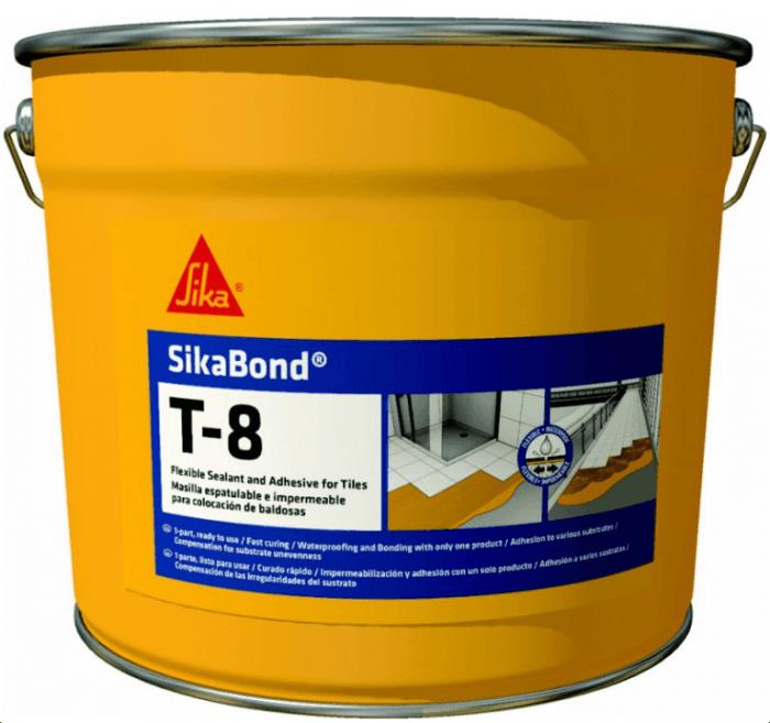 SikaBond T8 6,7kg - pružná hydroizolace a lepení na dlažbu, dřevo