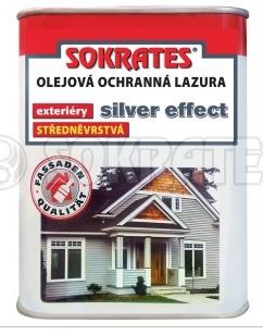 Sokrates olejová lazura 2,5L Ochranná olejová lazura středněvrstvá - Stříbrný efekt