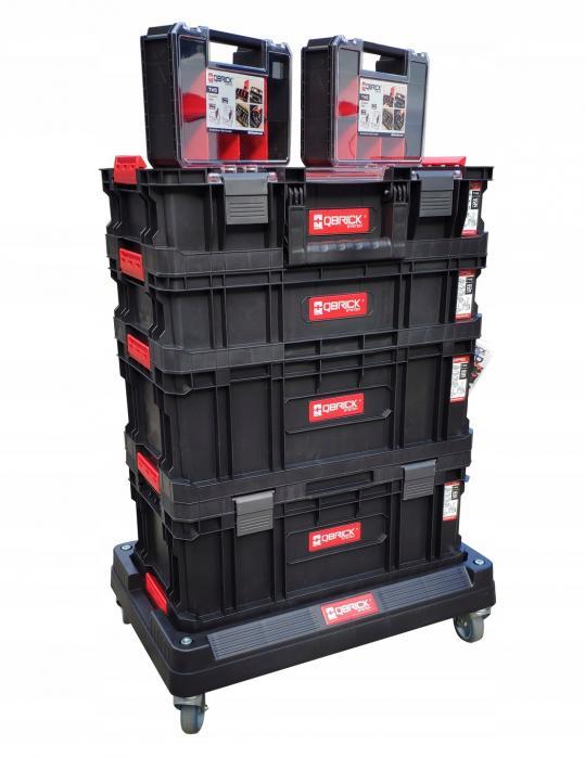 Set boxů Qbrick TWO Cart s podvozkem 7v1
