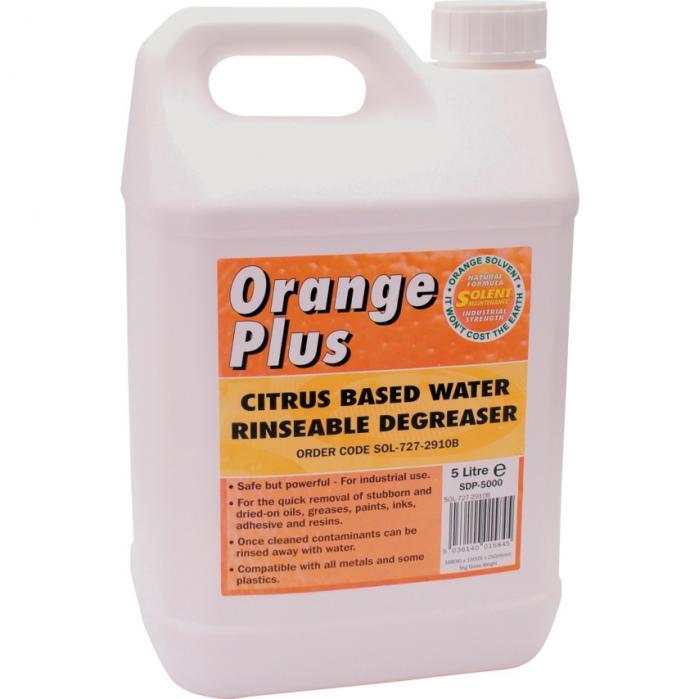 Solents Lubricants Solent odmašťovač oplachovatelný vodou Orange Plus 5 litrů
