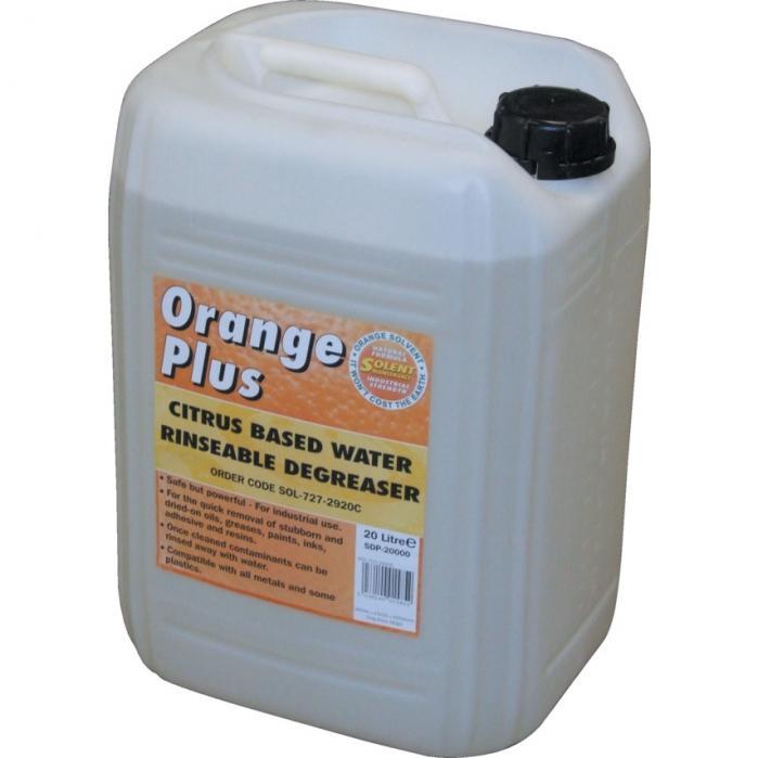 Solents Lubricants Solent odmašťovač oplachovatelný vodou Orange Plus 20 litrů