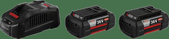 Bosch Startovací sada 2x GBA 36 V 4,0 Ah H-C + GAL 3680 CV Professional