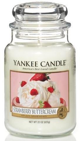 Vonná Svíčka YANKEE CANDLE Strawberry Buttercream CLASSIC VELKÝ Jahody se šlehačkou