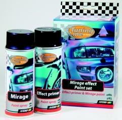 MOTIP Sada flop efekt -lak s optickým efektem pro zvýraznění různých částí vozidel, barva se mění v závislosti na úhlu dopadu sv