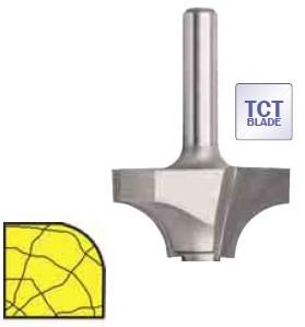 SENATOR Fréza radiusová truhlářská s ložiskem 22,0 x 13,5 x 6,3mm
