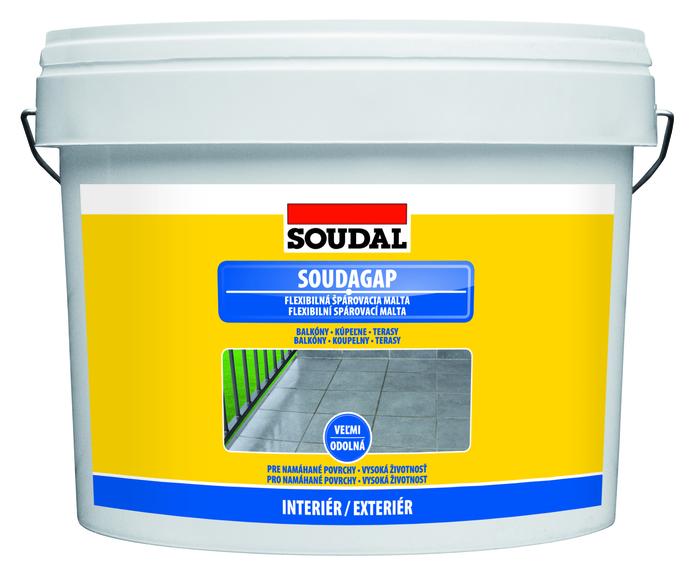 Soudal SOUDAGAP 2kg flexibilní spárovací hmota šedá