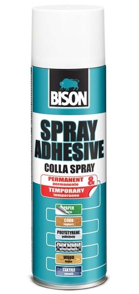 Bison Spray Adhesive 500ml aerosol - Kontaktní lepidlo ve spreji univerzální