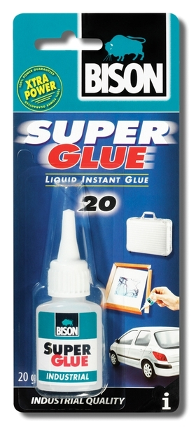 Bison Super Glue Industry 20ml blistr - Sekundové lepidlo v průmyslovém balení