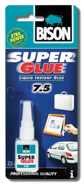 Bison Super Glue profi 7,5g lahvička - Profesionální sekundové lepidlo