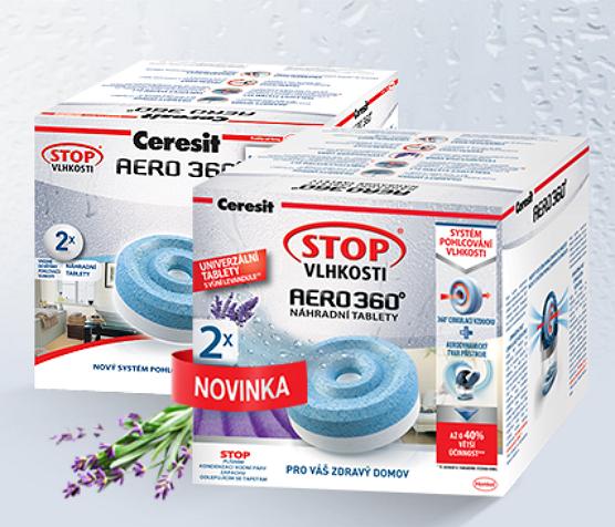 HENKEL Ceresit Stop vlhkosti, levandule náhradní tablety Aero 2x 450g