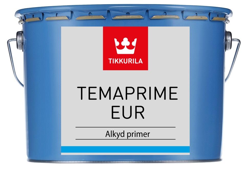 TIKKURILA Temaprime EUR 3L Rychleschnoucí jednosložková základní barva na kov v odstínu bílá