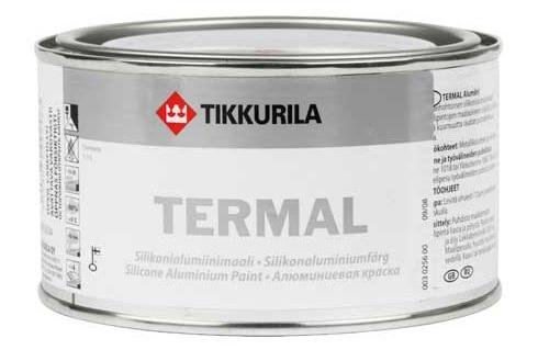 Tikkurila Termal stříbrný 0,1L žáruvzdorná vypalovací barva na kov silikonová